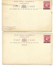 Gibraltar: 4 Postal Stationery (2 separate doubles) , VF, uncirculated, EB0103