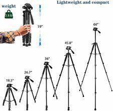 """Kingjue 66"""" Video Camera Tripod Canon Nikon Lightweight tablet phone Dslr case"""