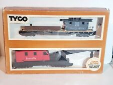 TYCO OPERATING CRANE CAR WITH BOOM TENDER - MIB - HO Scale