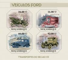 FORD VEHICLES (Model T/Sedan/Delivery Van) Car Stamp Sheet #1 (2011 Mozambique)