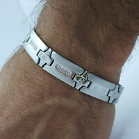 LARGE 12MM  STAINLESS STEEL BRACELET CASSIC STYLE MEN'S JEWELLERY BRACELET LS1