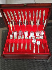 HUGE 60 PC 2760 GM ONEIDA HEIRLOOM TWILIGHT STERLING SILVER FLATWARE SET + CHEST