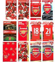Official ARSENAL FOOTBALL Birthday Cards + Gift Wrap~Brother Son 18th 21st Popup