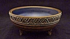Grethe and Jorgen Dudahl Lasson Studio Art Pottery Footed Bowl Denmark Signed