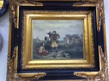 AUTHENTIC ANTIQUE HAND COLOURED STEEL ENGRAVING PRINT, FRAMED, ENGLAND