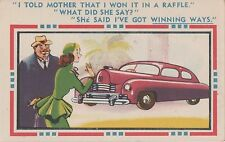 POSTCARD  COMIC Motoring Theme     I told Mother that....