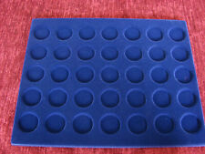 Blue tray for 35 coins 2 Euro (set of 2)