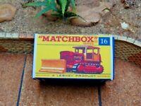 MATCHBOX 'REG. WHEELS' NO.16D CASE BULLDOZER CUSTOMISED DISPLAY/STORAGE BOX ONLY