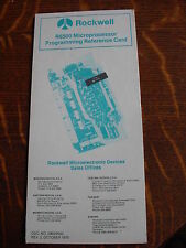 Rockwell R6500 Programming Reference Card 6502 CPU Instruction set
