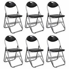 vidaXL Chaise pliable Chaise pliante 6 pcs cadre acier siège cuir artificiel