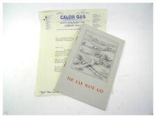 Vintage Art Deco advertising sales brochure Calor Gas & covering letter 1938