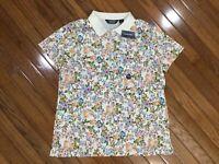 NWT Lands End Women's Soft Pima Polo Shirt Blouse Top Size Petite L   MSRP $39