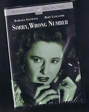 SORRY, WRONG NUMBER (DVD) BARBARA STANWYCK BURT LANCASTER NEW R-1 USA