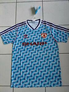 MAN UNITED Football Shirt Away 1992 1993 Snowflake jersey MANCHESTER UTD MEDIUM