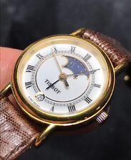 Estate Vintage TISSOT Swiss C220 Ladies Moonphase Date Watch + Box & Papers