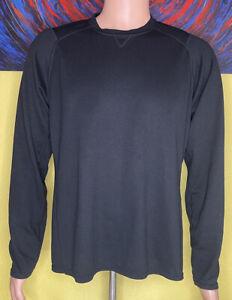 Men's Patagonia Capilene 3 Midweight Solid Long Sleeve Crew Shirt Large Black
