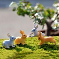 Rabbit Miniature Animal Figurines Sitting Plastic Mini Animal Moss Micro Bonsai