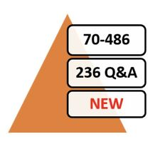 Updated 70-486 Exam 236 Q&A PDF File!