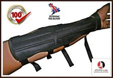 4 Strap Archery Long Arm Guard (33cm Long x 9cm Wide)-Cordura Arm guard