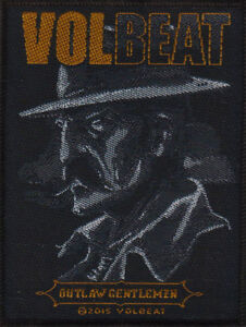 VOLBEAT Outlaw Gentlemen Woven Sew On Patch Rock Official Merchandise