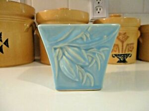 Vintage McCoy Pottery Blue Pinecone Planter / Jardiniere