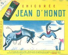 Buvard publicité Chicoré Jean D'Hondt cheval cowboy rodéo