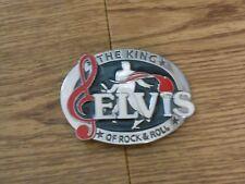 ELVIS THE KING OF ROCK/ROLL  BELT BUCKLE
