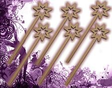 Six (6) Fairy Wands Craft Wood MDF Girls Birthday Party Favor Novelty Toys 130