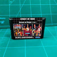Street of Rage 3 in 1 for SEGA  Mega Drive 16-Bit Game PAL NTSC US/Eu Shell