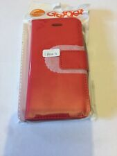 iPhone 5s And SE Flip Wallet Magnetic Case Cover Red Free Postage Uk Seller