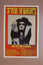 Siouxsie And the Banshes Concert Tour Poster 1985 Autumn