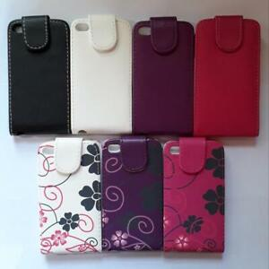 Vertical PU leather flip style case, cover to fit Apple ipod Touch 4th Gen
