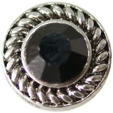 SMALL SNAP * BLACK STONE Snap Chunk 12mm Interchangeable Jewelry