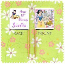 20 personalizzata Disney Princess Biancaneve Cup Cake Bandiera Topper Festa di Compleanno