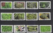 FRANCE 2012 GREEN VEGETABLES COMP. SET OF 12 STAMPS IN FINE USED CONDITION