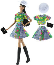 4in1 Set Fashion Doll Clothes Outfit Top+skirt+hat+bag for 11.5 in. Doll #01
