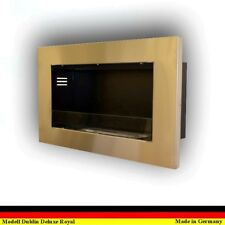 Gel & Ethanol Fireplace Cheminee Camino Dublin Deluxe Royal Red Stainless Steel