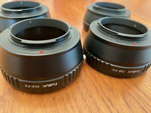 Fuji X-mount Lens Adapters - Lot of 4