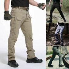 Para Hombre Pantalones Combate táctico al aire libre a prueba de viento Milicia Cargo Pantalones De Senderismo