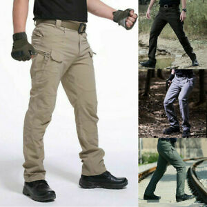 Men's Tactical Trousers Combat Outdoor Windproof Hiking Military Cargo Pants