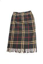 Requirements VTG Size 14 Fringed Maxi Skirt Scottish Tartan Houndstooth Plaid