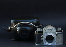 EXA 35mm SLR Camera - Body Only w Leather Case & Strap - USSR Occupied Germany