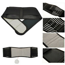 Magnetic Heat Waist Belt Brace For Lower Back Pain Relief Therapy Support Black
