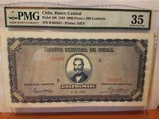 Chile 5000 peso mega rare PMG 35 VF/XF highest known