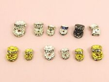 20 Grade A+ Rhinestone ROUND or Square RONDELLE Spacer BEAD Caps 6MM/ 8MM/ 10MM