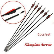 "6pcs 8.0mm Arrow Shaft Sp500 30"" Fiberglass Arrow for Composite Bow Archery Hunt"