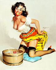Vintage Pinup Girl A4 The Winner Canvas Art Print Gil Elvgren