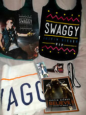 New JUSTIN BIEBER BELIEVE tour VIP PACKAGE Gift Set w/ Purse Tote Towel Book