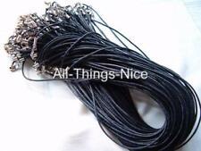 "Silk Mix 18"" Necklace BLACK Strings Fashion Jewellery Pendant Cord WHOLESALE 40"