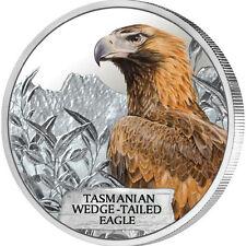 Tuvalu 2012 - ENDANGERED AND EXTINCT -TASMANIAN WEDGE-TAILED EAGLE 1OZ SILVER